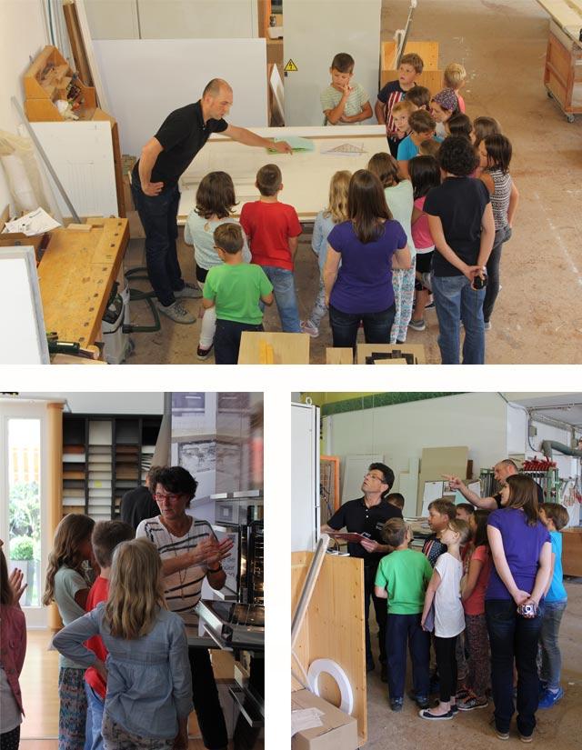 Besuch der Klasse 3a · Schreinerei Bührer, Freiamt · Bild Nr.1
