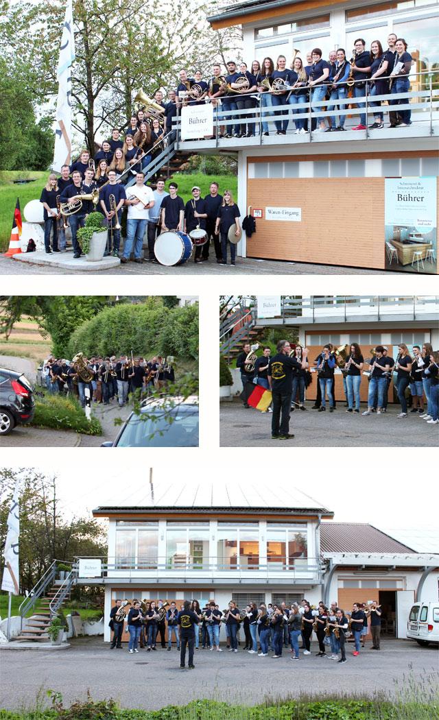 Besuch vom Musikverein Ottoschwanden · Schreinerei Bührer, Freiamt · Bild Nr.1
