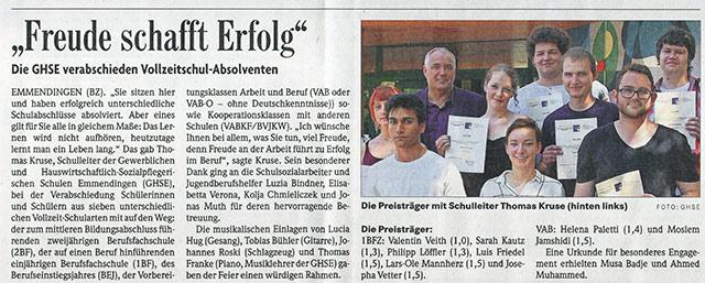 Preisträger 2017 · Schreinerei Bührer, Freiamt · Bild Nr.1
