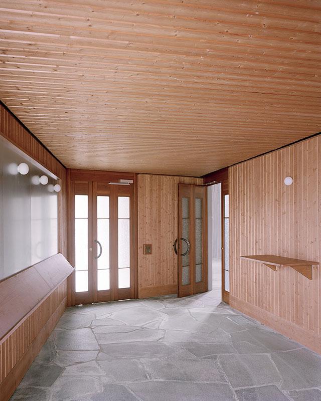 Neu gestalteter Eingangsbereich