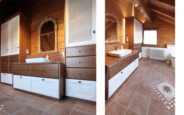 Entwurf, Planung und Umsetzung eines hochwertigen Badezimmers im Landhausstil · Schreinerei Bührer, Freiamt · Bild Nr.2
