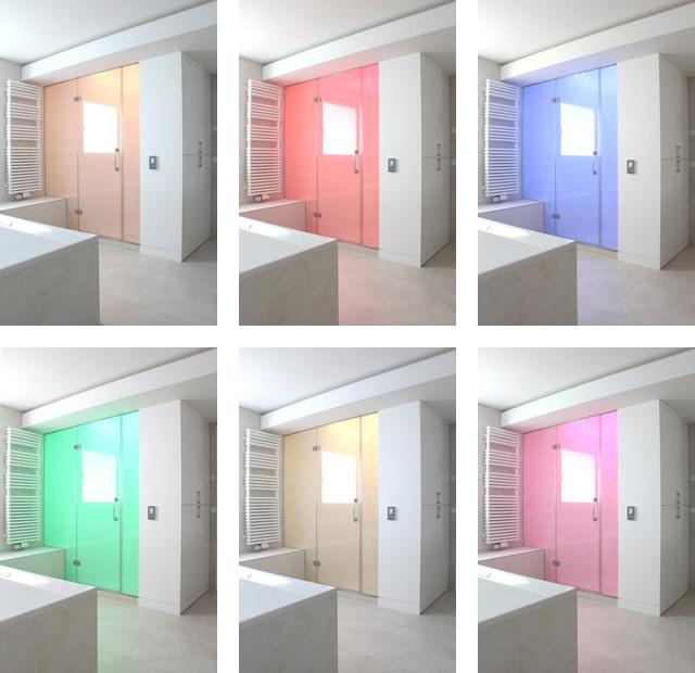 unterschiedliche LED-Farben (mit Dampfbefüllung)