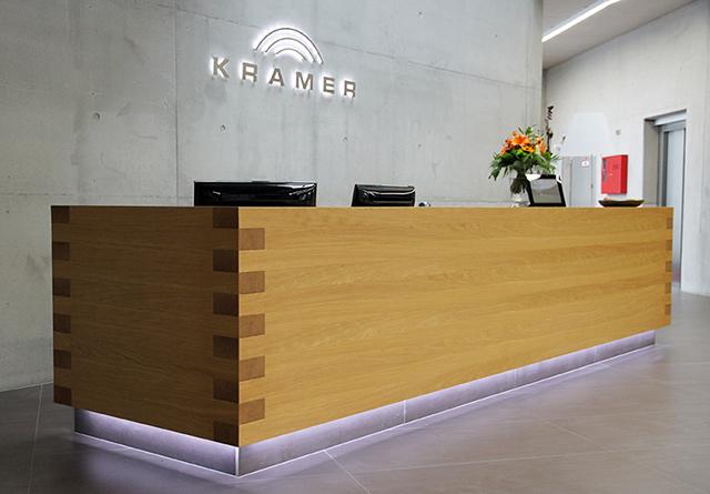 Empfangstheke Firma Kramer GmbH · Schreinerei Bührer, Freiamt · Bild Nr.1