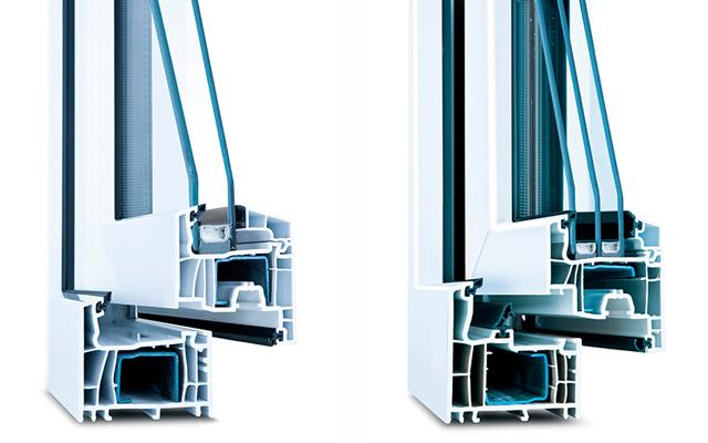 Wirus Kunststoff-Fenster 2-fach bzw. 3-fach verglast