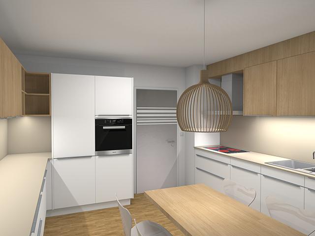 Fotorealistisches Rendering einer Küche