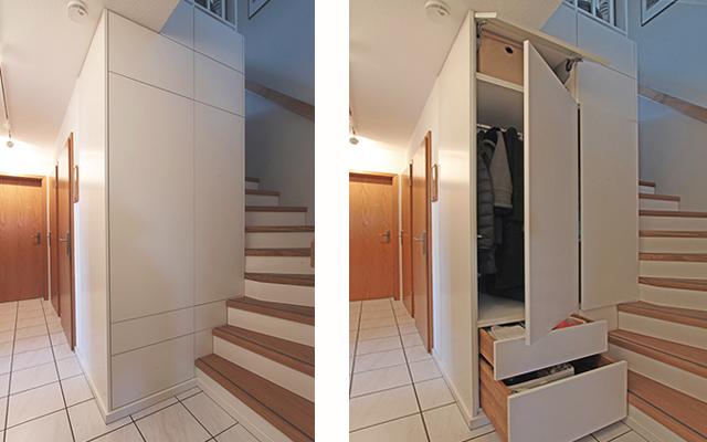 Einbaumöbel und Treppenstufenerneuerung · Schreinerei Bührer, Freiamt · Bild Nr.1