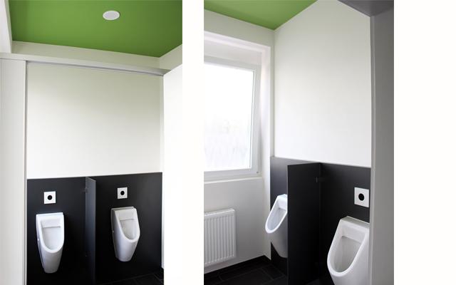 Besucher-WCs der Fa. Schwarzwaldmilch GmbH  · Schreinerei Bührer, Freiamt · Bild Nr.2