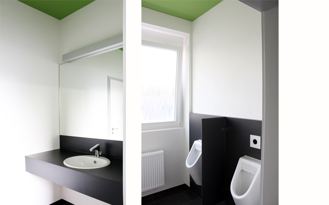 Besucher-WCs der Fa. Schwarzwaldmilch GmbH  · Schreinerei Bührer, Freiamt · Bild Nr.4